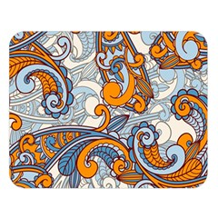 Paisley Pattern Double Sided Flano Blanket (large)
