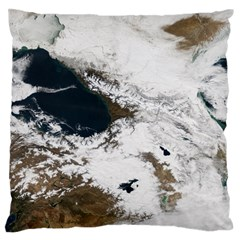 Winter Olympics Large Flano Cushion Case (two Sides)