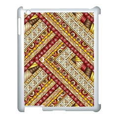 Ethnic Pattern Styles Art Backgrounds Vector Apple Ipad 3/4 Case (white)