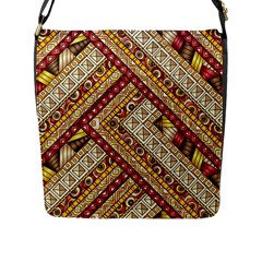 Ethnic Pattern Styles Art Backgrounds Vector Flap Messenger Bag (l)