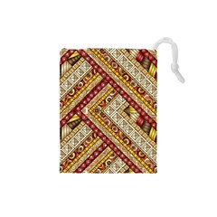 Ethnic Pattern Styles Art Backgrounds Vector Drawstring Pouches (small)