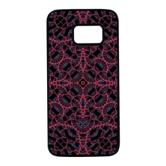 Modern Ornate Pattern Samsung Galaxy S7 Black Seamless Case