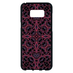 Modern Ornate Pattern Samsung Galaxy S8 Plus Black Seamless Case