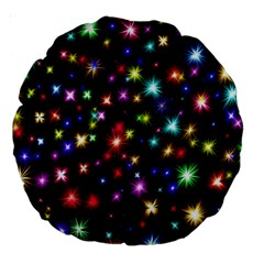 Fireworks Rocket New Year S Day Large 18  Premium Round Cushions