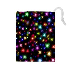 Fireworks Rocket New Year S Day Drawstring Pouches (large)