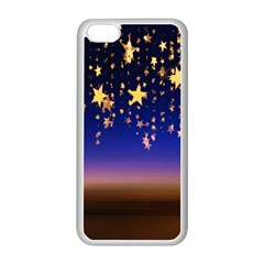 Christmas Background Star Curtain Apple Iphone 5c Seamless Case (white)