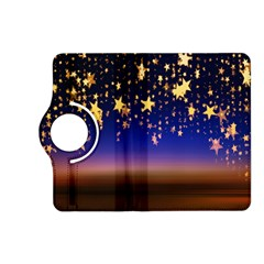 Christmas Background Star Curtain Kindle Fire Hd (2013) Flip 360 Case