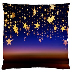 Christmas Background Star Curtain Standard Flano Cushion Case (one Side)