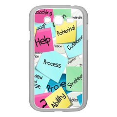 Stickies Post It List Business Samsung Galaxy Grand Duos I9082 Case (white)