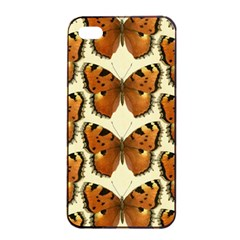 Butterfly Butterflies Insects Apple Iphone 4/4s Seamless Case (black)