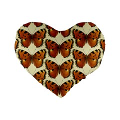 Butterfly Butterflies Insects Standard 16  Premium Flano Heart Shape Cushions
