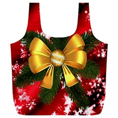 Christmas Star Winter Celebration Full Print Recycle Bags (l)