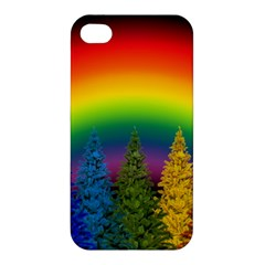 Christmas Colorful Rainbow Colors Apple Iphone 4/4s Hardshell Case