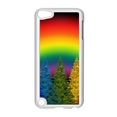 Christmas Colorful Rainbow Colors Apple Ipod Touch 5 Case (white)