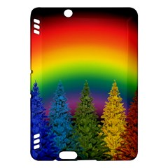 Christmas Colorful Rainbow Colors Kindle Fire Hdx Hardshell Case
