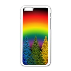 Christmas Colorful Rainbow Colors Apple Iphone 6/6s White Enamel Case