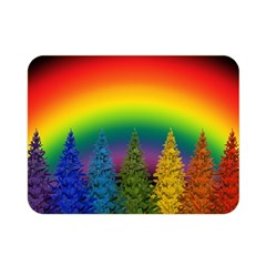 Christmas Colorful Rainbow Colors Double Sided Flano Blanket (mini)