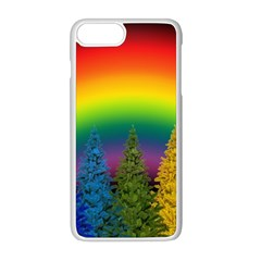 Christmas Colorful Rainbow Colors Apple Iphone 8 Plus Seamless Case (white)