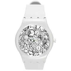 Time Clock Watches Time Of Round Plastic Sport Watch (m)
