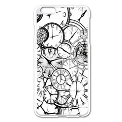 Time Clock Watches Time Of Apple Iphone 6 Plus/6s Plus Enamel White Case