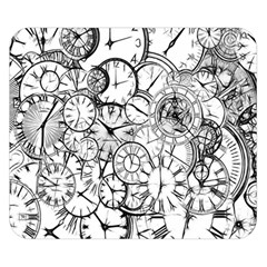 Time Clock Watches Time Of Double Sided Flano Blanket (small)