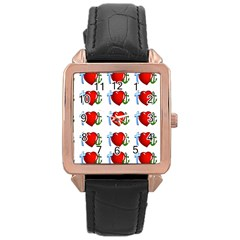 Cross Heart Anchor Love Hope Rose Gold Leather Watch