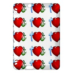 Cross Heart Anchor Love Hope Kindle Fire Hdx Hardshell Case
