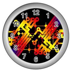Board Conductors Circuits Wall Clocks (silver)