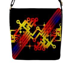 Board Conductors Circuits Flap Messenger Bag (l)