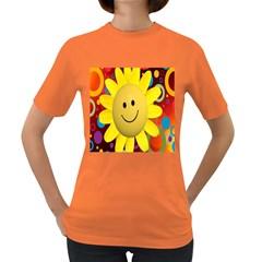 Sun Laugh Rays Luck Happy Women s Dark T Shirt