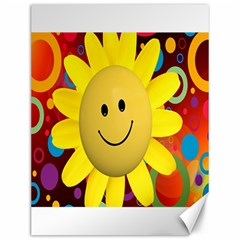 Sun Laugh Rays Luck Happy Canvas 12  X 16
