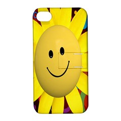 Sun Laugh Rays Luck Happy Apple Iphone 4/4s Hardshell Case With Stand