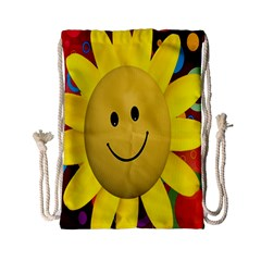 Sun Laugh Rays Luck Happy Drawstring Bag (small)