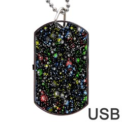 Universe Star Planet All Colorful Dog Tag Usb Flash (one Side)