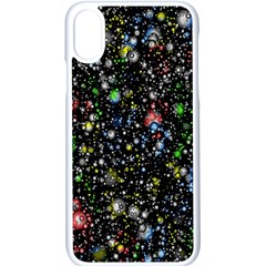 Universe Star Planet All Colorful Apple Iphone X Seamless Case (white)