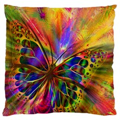 Arrangement Butterfly Aesthetics Large Flano Cushion Case (one Side)