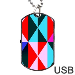 Geometric Pattern Dog Tag Usb Flash (one Side)