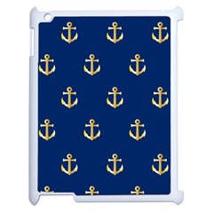 Gold Anchors Background Apple Ipad 2 Case (white)