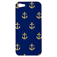 Gold Anchors Background Apple Iphone 5 Hardshell Case