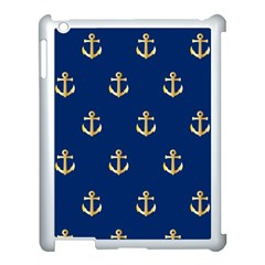 Gold Anchors Background Apple Ipad 3/4 Case (white)
