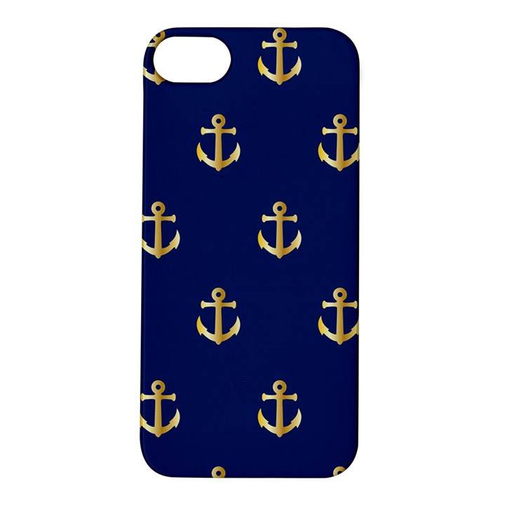 Gold Anchors Background Apple iPhone 5S/ SE Hardshell Case