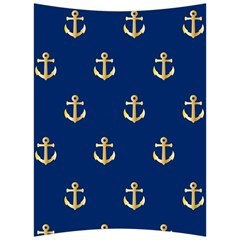 Gold Anchors Background Back Support Cushion