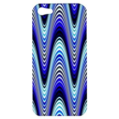 Waves Wavy Blue Pale Cobalt Navy Apple Iphone 5 Hardshell Case