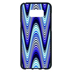Waves Wavy Blue Pale Cobalt Navy Samsung Galaxy S8 Plus Black Seamless Case
