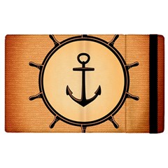Nautical Anchor Marine Ocean Sea Apple Ipad 3/4 Flip Case