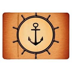 Nautical Anchor Marine Ocean Sea Samsung Galaxy Tab 8 9  P7300 Flip Case