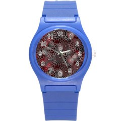Chain Mail Vortex Pattern Round Plastic Sport Watch (s)