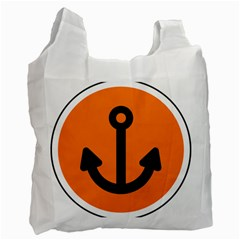 Anchor Keeper Sailing Boat Recycle Bag (one Side)