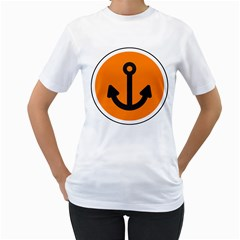 Anchor Keeper Sailing Boat Women s T Shirt (white)