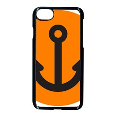 Anchor Keeper Sailing Boat Apple Iphone 8 Seamless Case (black)